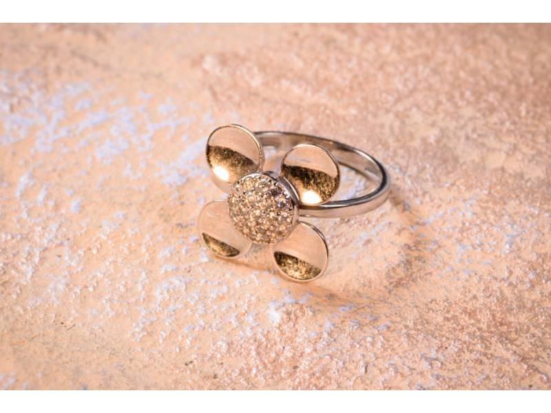 Inel aur alb cu zirconii cadouri bijuterii