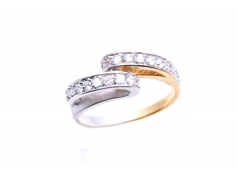 Inel aur bijuterie cu zirconia model deosebit
