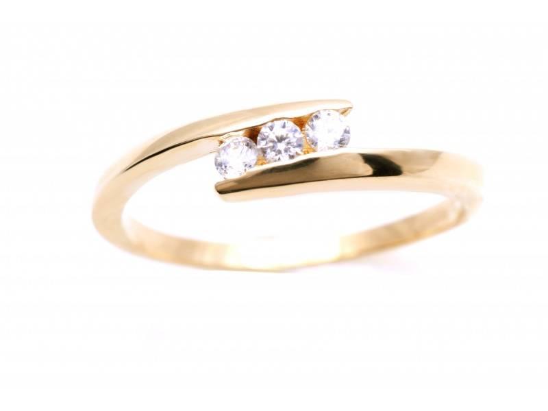Inel dama aur 14K galben bijuterii
