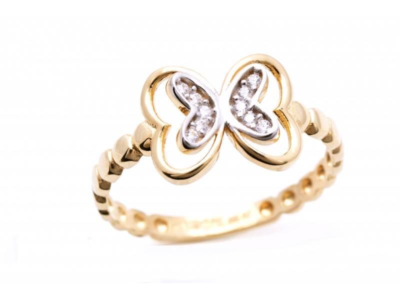 Inel aur cadouri bijuterii dama fluture