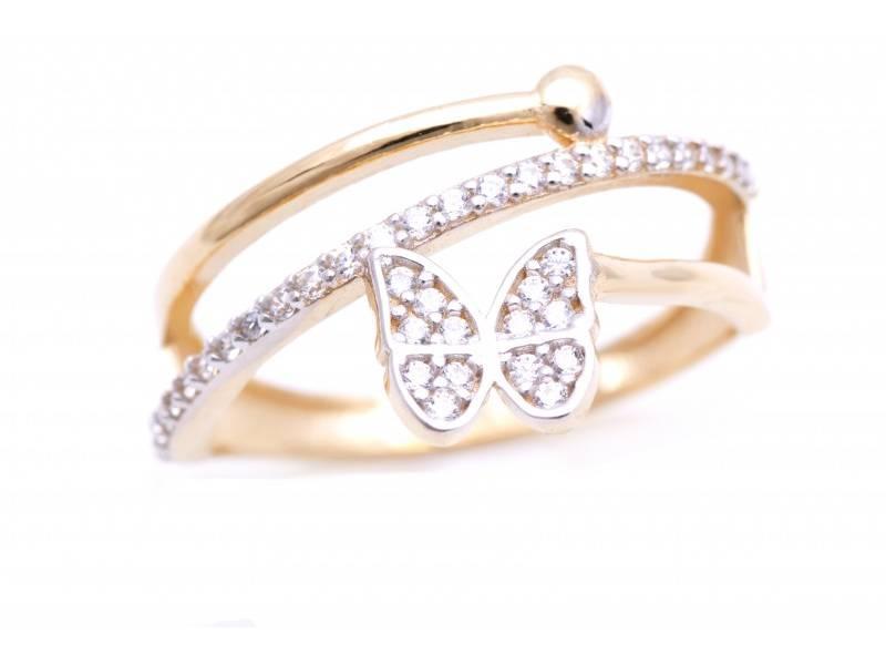 Inel aur cadouri bijuterii fluturas