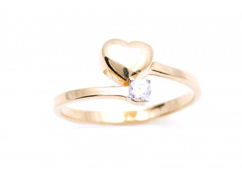 Inel aur cadouri bijuterii inimioara