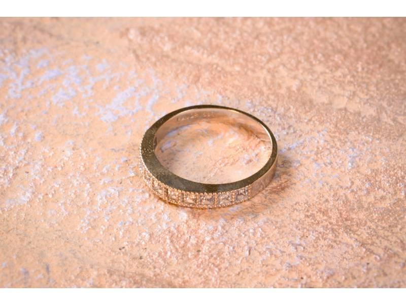 Bijuterii aur online - Inele aur 14K alb cu zirconii