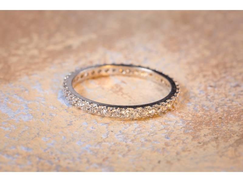 Inel aur tip verigheta cu 1 rand zirconii cadouri bijuterii