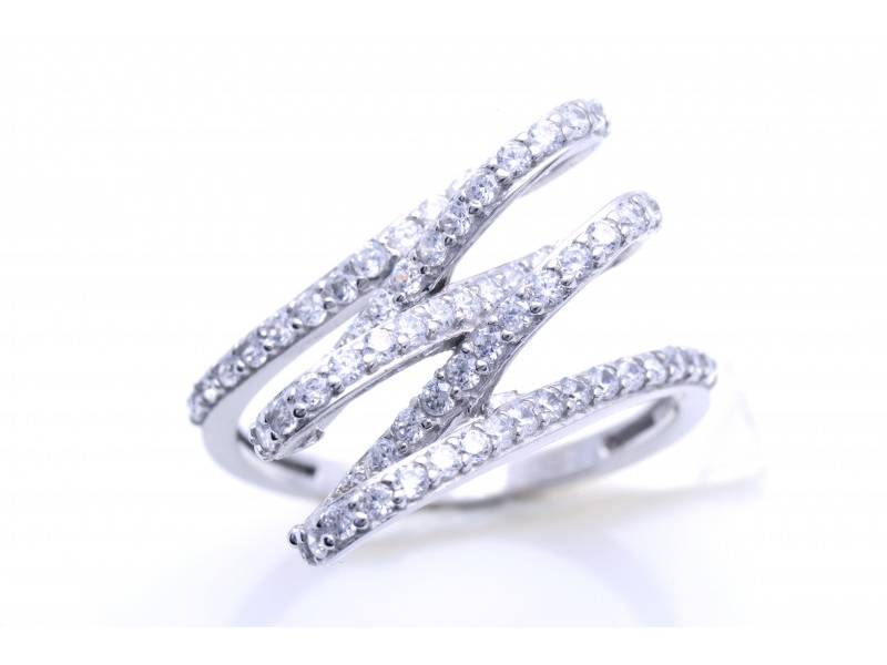 Inel cadouri bijuterii aur alb cu zirconia