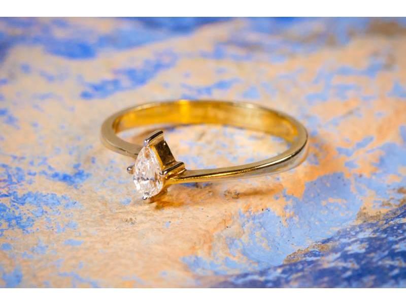 Inel de logodna 14K codouri bijuterii