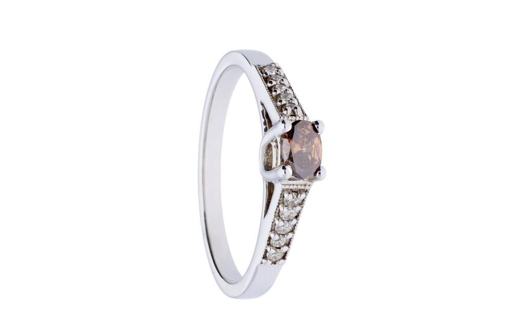 Inel de logodna  cu diamante aur 18k