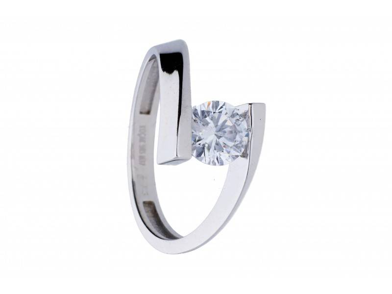 Inel de logodna aur alb 14k bijuterii online