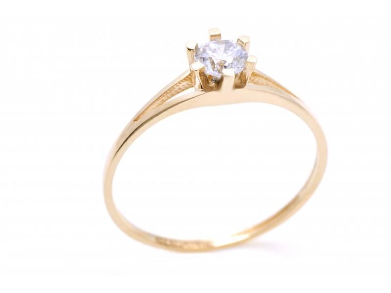 Inel de logodna dama aur 14K galben