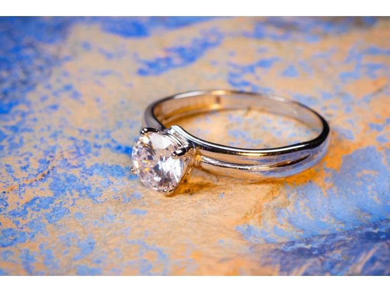 Inel de logodna bijuterii aur 14K