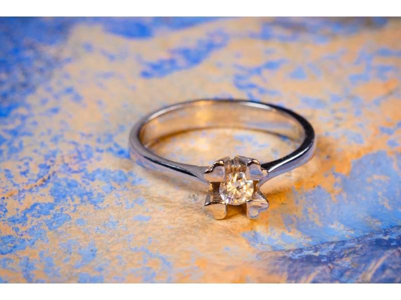 Inel de logodna bijuterii aur cu zirconia