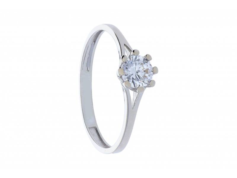 Inel de logodna cadouri bijuterii aur alb