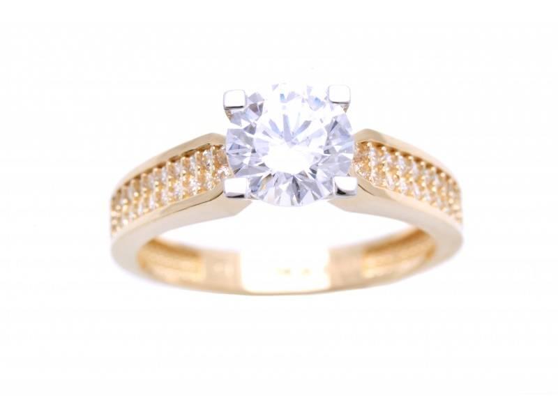 Inel de logodna din aur 14k cadou bijuterii