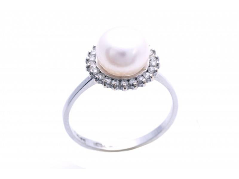 Inel din aur 14K perla