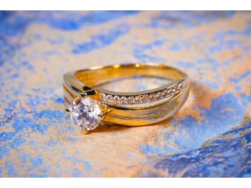 Inel logodna aur 14K cadouri bijuterii