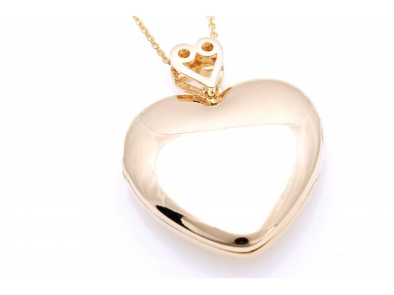 Lant aur 14K cadouri bijuterii inimioara gravabila caseta fotografii