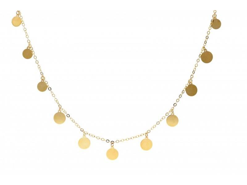 Lant cu pandant aur 14k bijuterii banuti gravabili