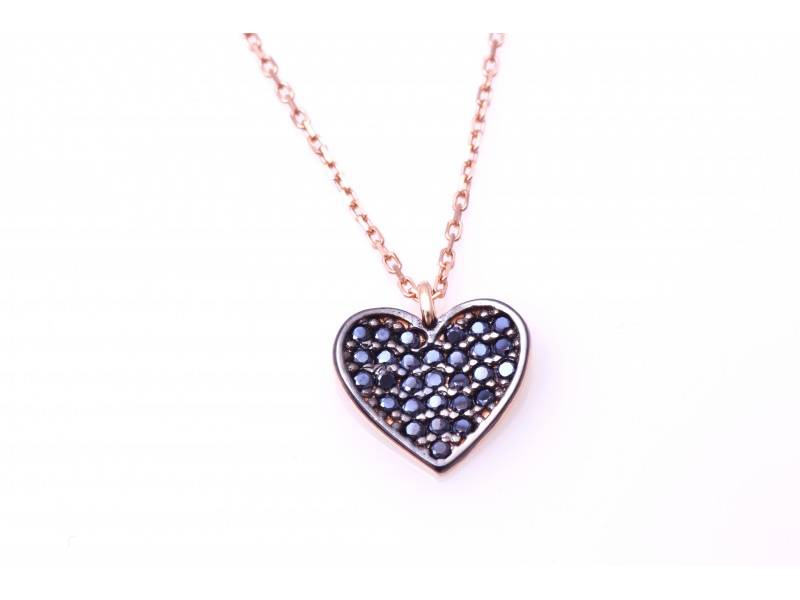 Lant cu pandant aur 14k bijuterii inimioara