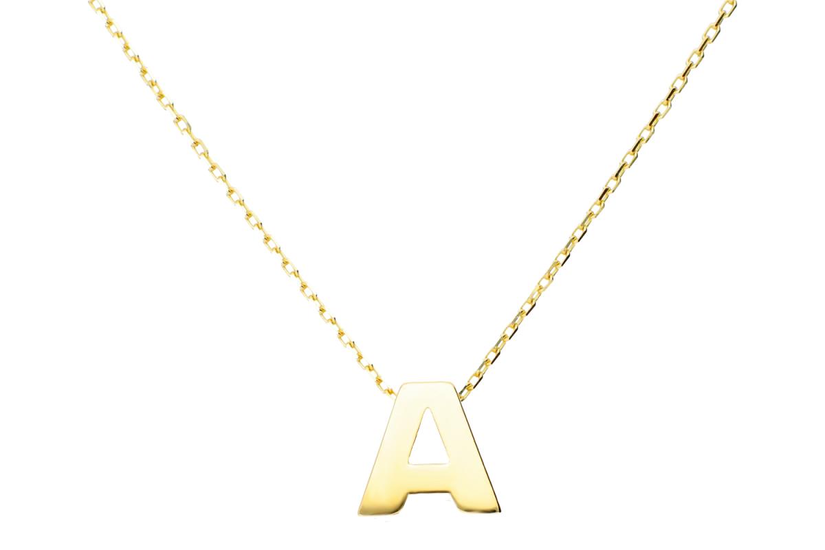 Lant cu pandant aur 14k litera A