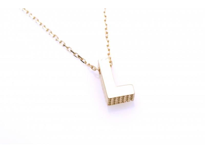 Lant cu pandant aur 14k litera L