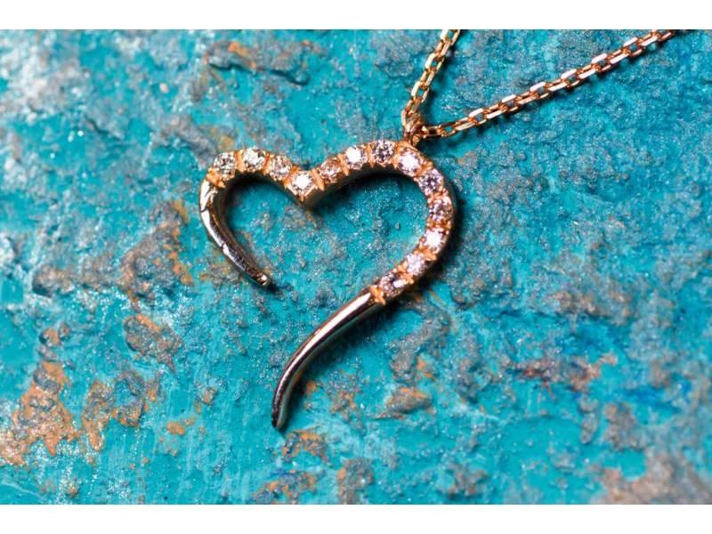Lant cu pandant bijuterii aur 14K inimioara