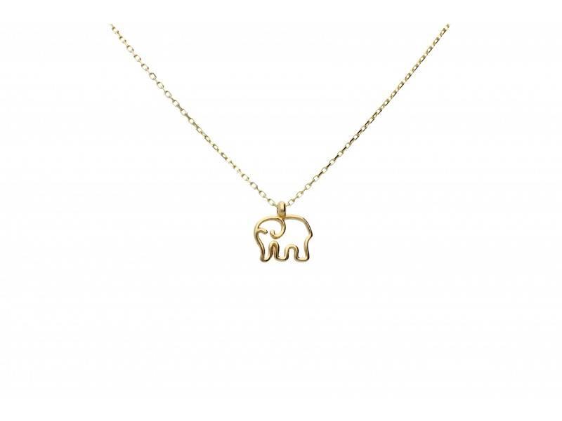 Lant cu pandantiv aur elefantel norocos