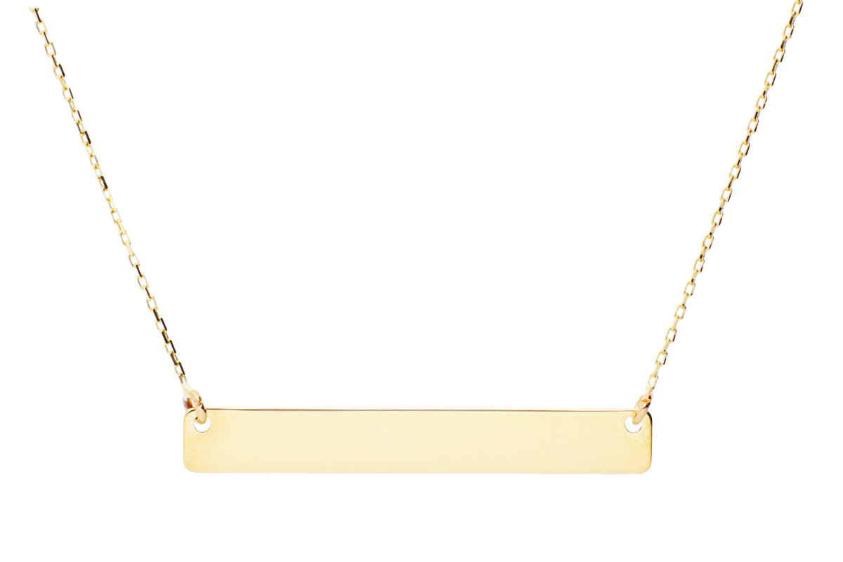 Bijuterii aur online - Lantisoare cu pandantiv din aur 14K galben gravabil