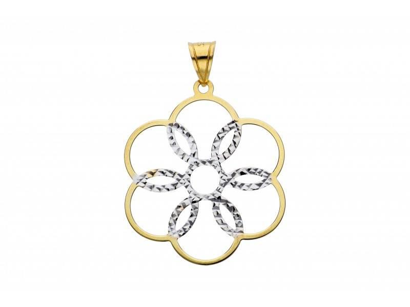 Medalion 14K floricica
