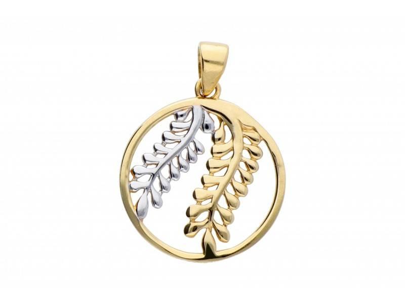 Medalion aur 14K frunzulite