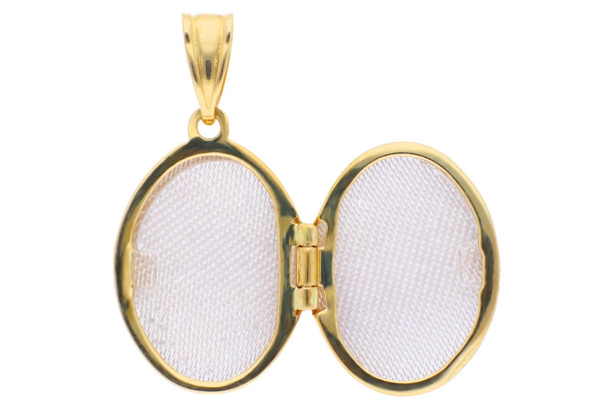 Medalion aur 14K galben caseta foto