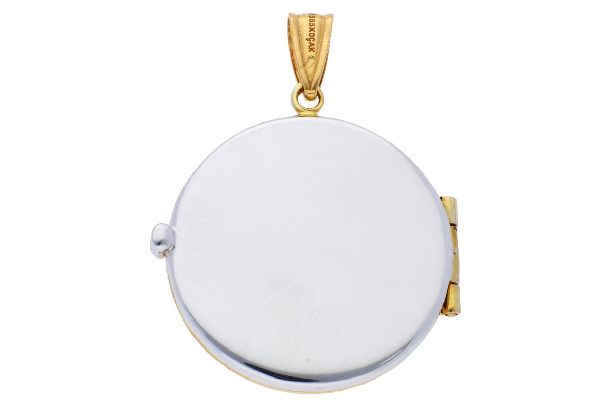 Medalion aur 14K caseta foto gravabila
