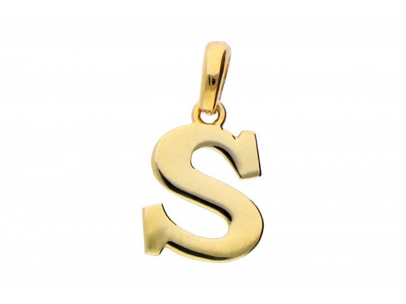 Medalion aur 14k initiala litera S