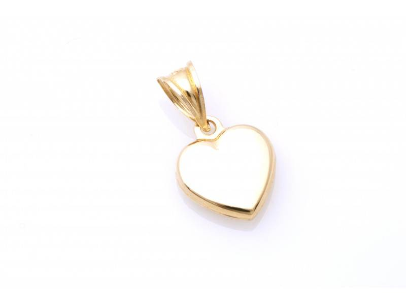 Medalion aur galben inimioara gravabila