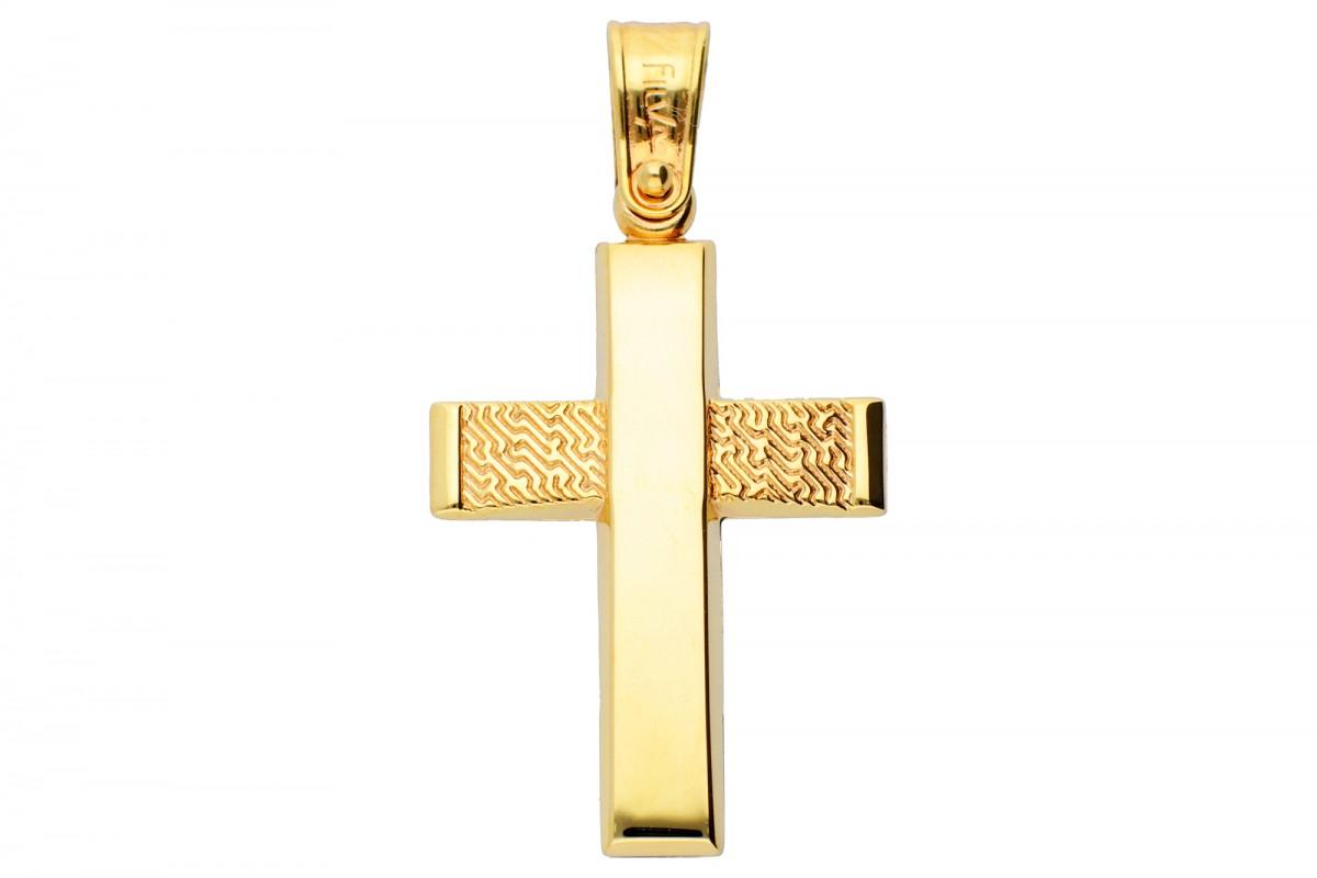 Cruciulita din aur 14K galben