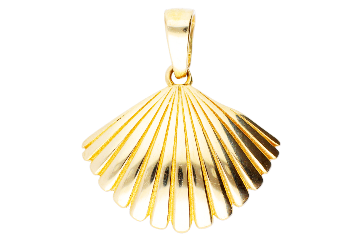 Bijuterii din aur - Pandantive dama din aur 14K galben scoica
