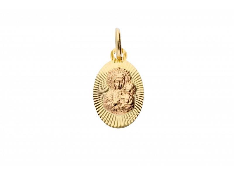 Medalion iconita aur 14k