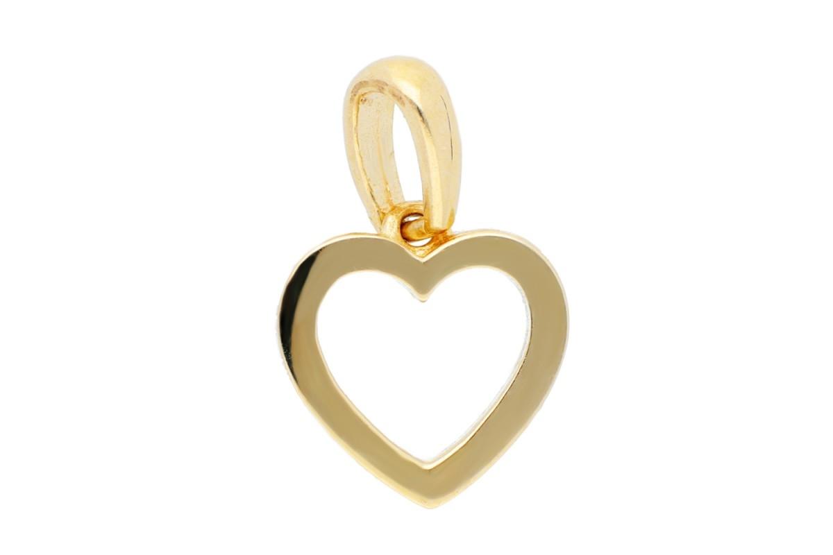 Medalion inima aur galben