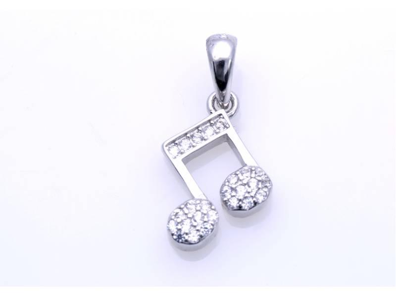 Pandant argint 925 Nota muzicala