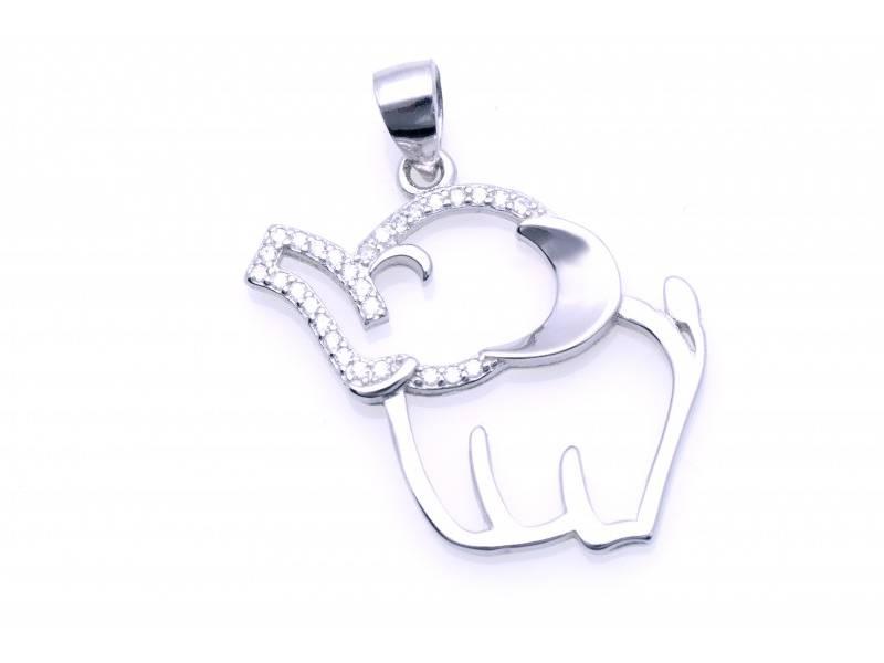 Pandant argint elefant