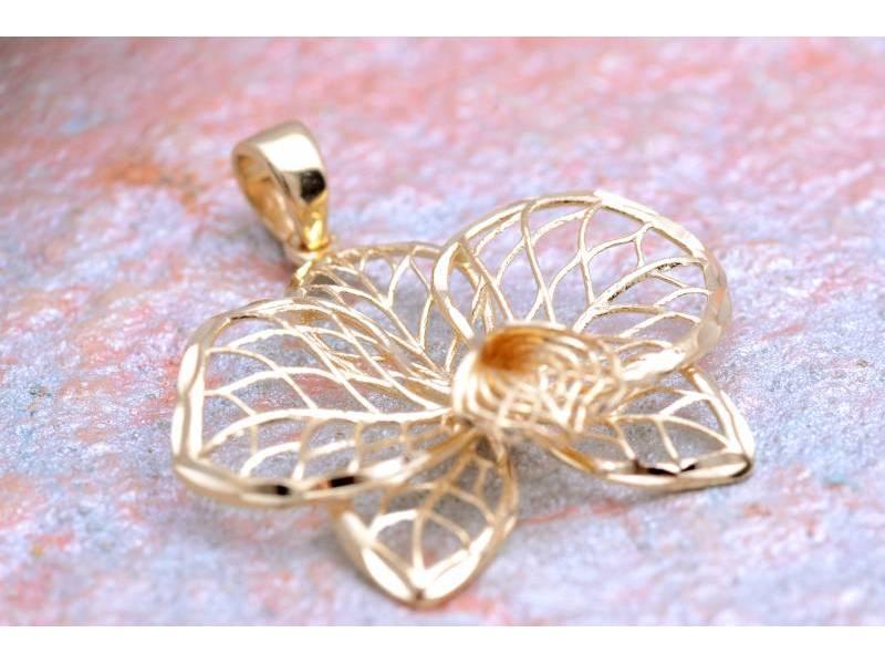 Medalioane dama aur 14K galben floare