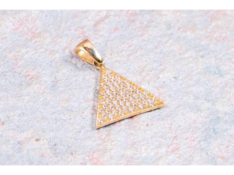 Medalioane dama din aur 14K galben geometrie
