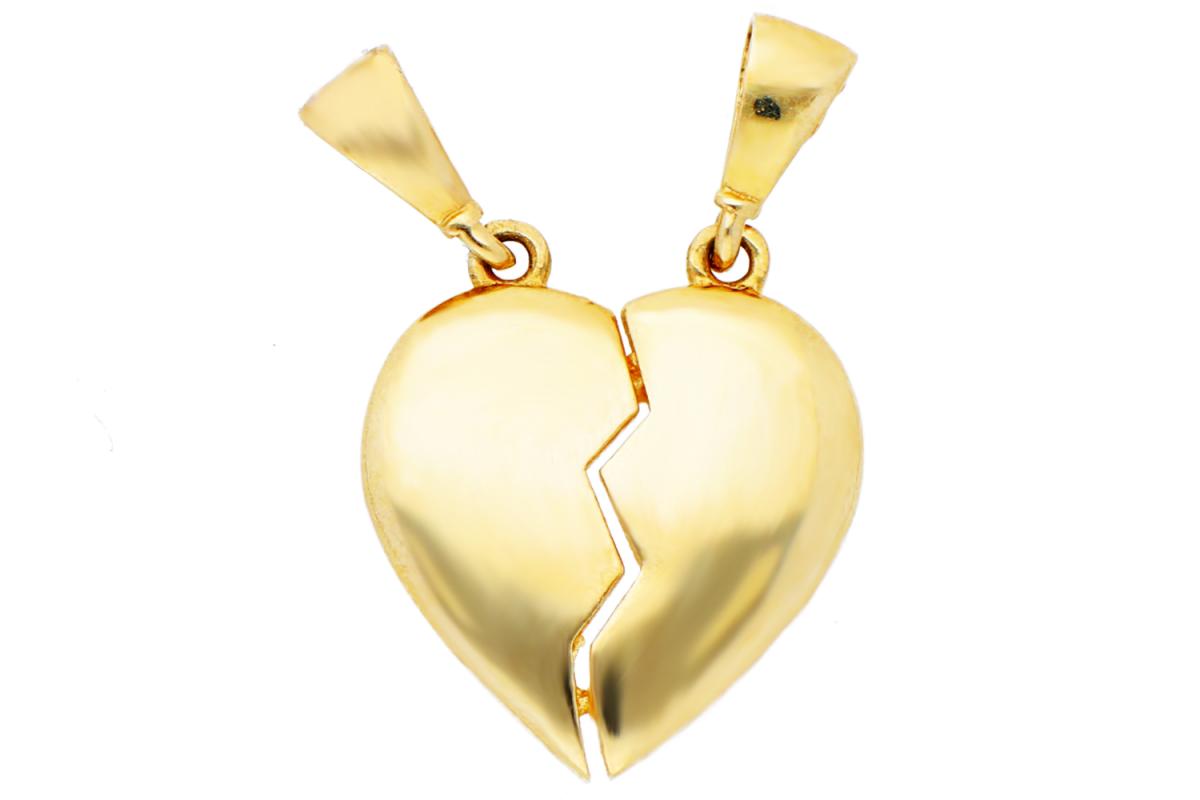 Bijuterii aur online - Medalioane dama aur 14K galben inimioara gravabila