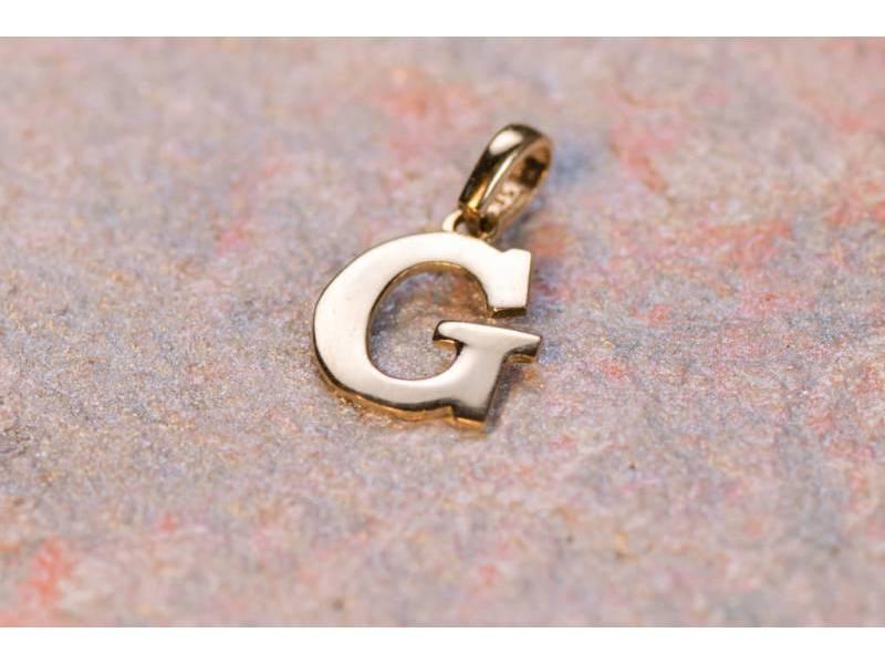 Pandantive din aur 14K galben initiala G