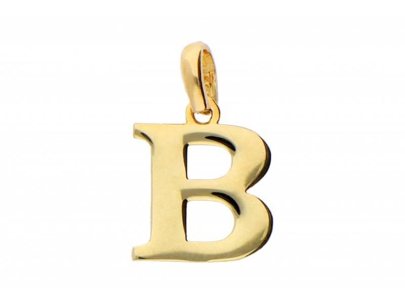 Pandant aur 14K initiala B