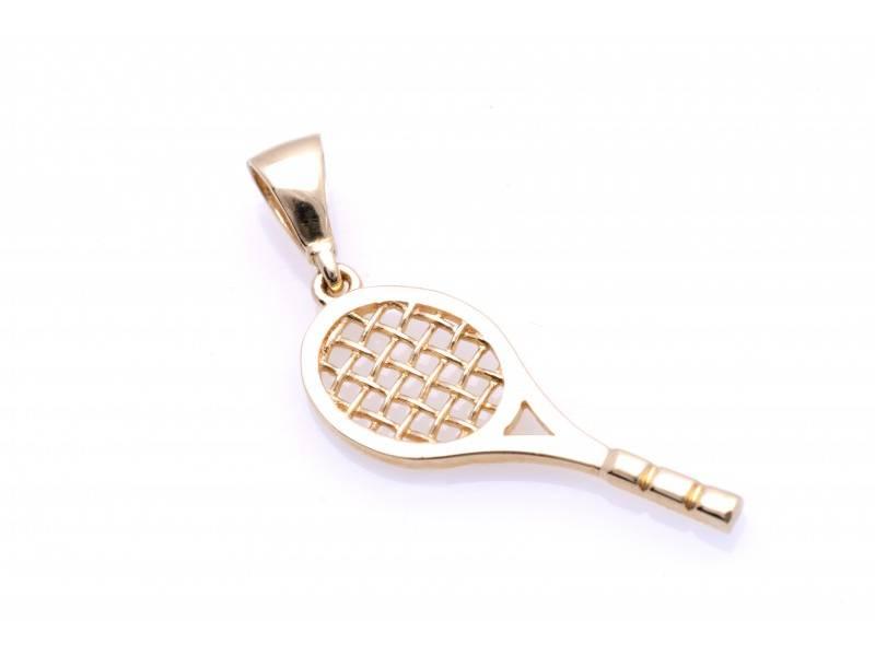 Pandant aur 14K medalion racheta tenis