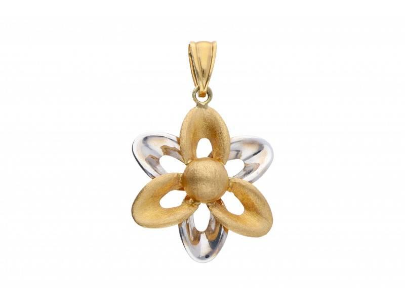 Pandant aur bijuterie model floare