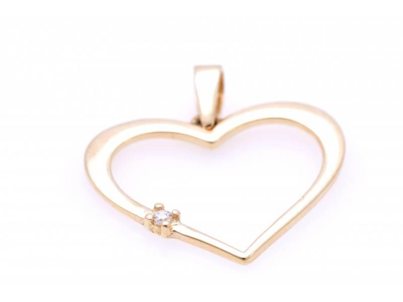 Pandant aur cadouri bijuterii inimioara