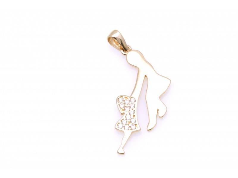 Pandant aur cadouri bijuterii mama si fetita