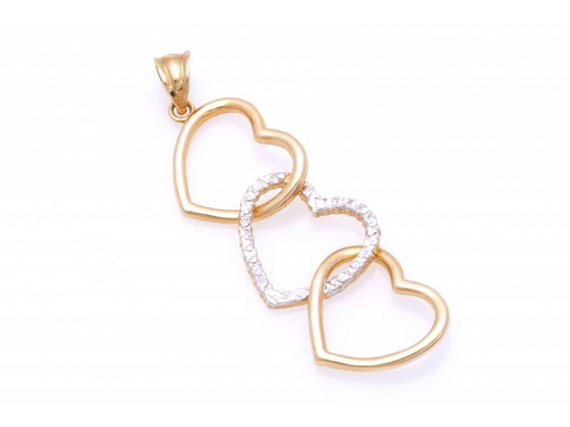 Pandant aur inimi cadouri bijuterii