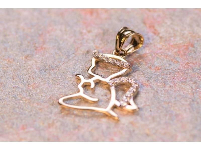 Pandant ingeras bijuterii aur 14K
